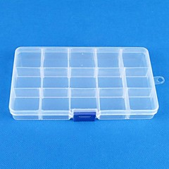 15 Transparent plastics Jewelry  Display Storage Pack Box(1PC)