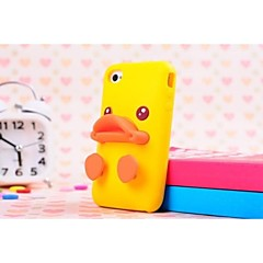 Duckbilled Individuality Silicone Soft Case with Stand for iPhone 4/4S (Assorted Colors)