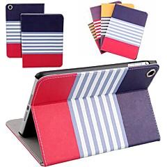 dsd® luxe avondmaal slip auto slaap / waak-up streep pu leer full body case voor de iPad mini / Mini2 (verschillende kleuren)