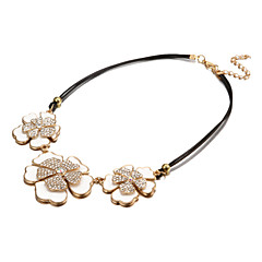 Fashion Dignity Flower White Alloy Choker Necklaces(1 Pc)
