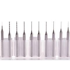 neje 0,2 ~ 1.0mm volfram stål borr fastställts för cnc / pcb - silver