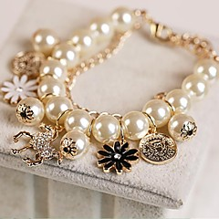 Fashion Pearl Flower Filled with Ms Bracelet