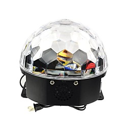 6x3W RGB LED mp3 dj club pub disco party kristal magische bal stadium laserlicht (AC100-240V)