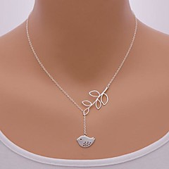 Kettingen Hangertjes ketting Sieraden Dagelijks Bladvorm / Dierenvorm / Vogel Verstelbaar Legering Zilver 1 stuks Geschenk