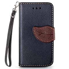 Leaf Design PU Full Body Case with Card Slot for iPhone 4/4S (Assorted Colors)