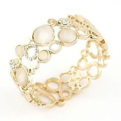 Hollow Metal Concise Fashion Boutique Temperament Opal Bracelet