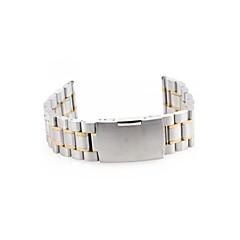 Men Women 22mm Silver Steel Watch Band Strap Bracelet Curved End High Quality Model