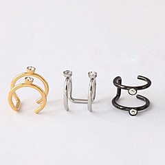 Earring Ear Cuffs Jewelry Wedding / Party / Daily / Casual Titanium Steel Gold / Black / Silver