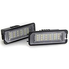 2szt biały 18 LED światła tablicy rejestracyjnej numer żarówka do VW Golf 5 6