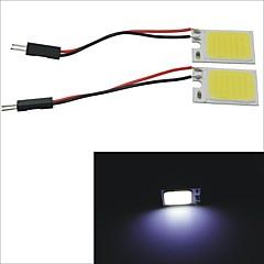 carking ™ t10 / BA9s / guirlande 28mm ~ 40mm 2.5W 18-COB LED hvid bil interiør dome lys (2 stk)
