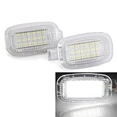2PCS White 18 LED 3528 SMD Courtesy Door Lights Lamp Bulb for Mercedes Benz W221