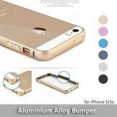 mais recente rodada borda de metal caso de liga de alumínio de protecção pára-choques moldura para iphone 5 / 5s - (cores sortidas)