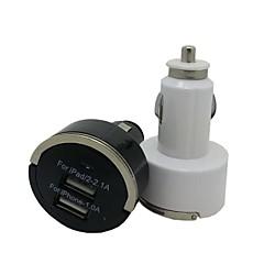 2 ports chargeur de voiture Mini USB chargeur de voiture pour l'iphone 5/5 s / ipod ipad (couleur assorties)