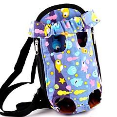 precioso del pescado púrpura mochila frontal portador bolso para mascotas perros (diferentes tamaños)