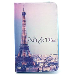 Singnature Eiffel Tower View Pattern Full Body Case with Stand for Samsung Galaxy Tab 3 Lite T110