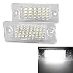 2 szt biały płyta 18 LED SMD 3528 Numer licencji lampka do VW Passat B5