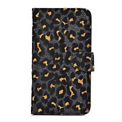 moda pu couro leopardo caso de corpo inteiro com suporte do dinheiro slot de suporte e cartão para iPhone 5 / 5s (cores sortidas)