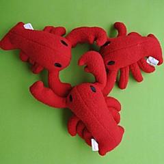 애완 동물 개를위한 멋진 크리스마스 선물 가재 모양 보컬 장난감