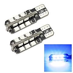 Merdia T10 1W 250LM 24x2835SMD LED Blue Light Side Light / Instrument Lamp/Daytime Running Light(2 PCS/12V)