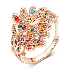 ROXI Phoenix Rose Gold Plated Austrian Crystals Statement Ring(1 Pc)