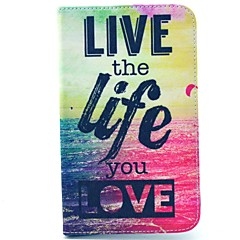 Live Life You Love Pattern Full Body Case with Stand for Samsung Galaxy Tab 3 Lite T110