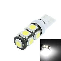 T10(149 168 W5W)4.5W 9X5060SMD 280-360LM 6500-7500K White Light for Car Reading Lamp(DC12-16V)