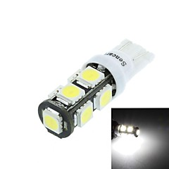 T10 (149 168 W5W) 4.5W 9x5060smd 280-360lm 6500-7500k valkoinen valo auton lukulamppu (dc12-16v)