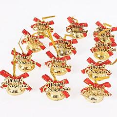 12pcs cloches de Noël avec la ligne d'or arc alphabet