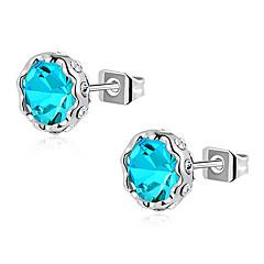 ROXI Blue Classic Genuine Austrian Crystals Stud Earrings(1 Pair)