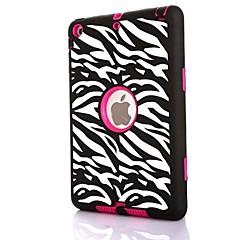 3 i 1 zebra mönster combo pc& Silikon Väska till iPad Mini 3, iPad Mini 2, iPad Mini (blandade färger)