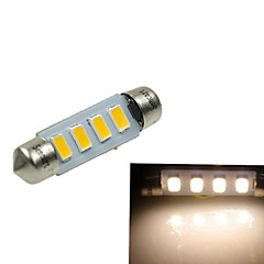 39MM(SV8.5-8) 2W 4x5730SMD 120-1600LM 3000-3500K Warm White Light Led Bulb for Car License plate  Lamp(AC12-16V)