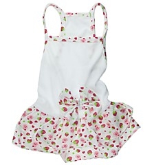 Cat / Dog Dress White Dog Clothes Spring/Fall Wedding