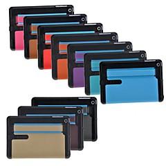 couleur pure en cuir PU + plastique dur cas de tout le corps pour Mini iPad 3, iPad 2 Mini, Mini iPad (couleurs assorties)
