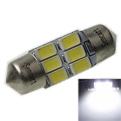 31MM(SV8.5-8) 3W 6X5730SMD 180-220LM 9000-10500K Cool White Light LED Bulb for Car Reading Lamp(AC12-16V)