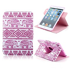 Cute Elephant Pattern PU Leather Full Body Case with Card Slot and Stand for Apple iPad Mini 1/2/3