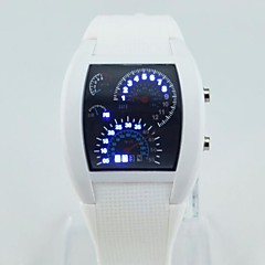 Men's Circular Silicone  Movement Fashion Electronic Watch(Assorted Colors) Cool Watch Unique Watch
