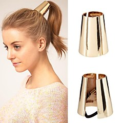 Z&X®  European Style Contracted Conical Hair Tie (2 Colors Options: Golden, Silver)