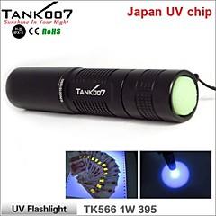 tank007® uv tk566 professionnel 1 en mode 1x japon 395-1w lampe de poche (1xAA, noir)