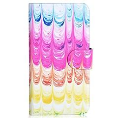 lce creme padrão pu coldre de telefone celular com slot para cartão de iPhone 5 / 5s