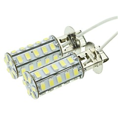 H3 20W 36X5730SMD 800-1200LM 6000-6500K White Light Led Bulb for Car Fog Lamp(A pair/AC12-16V)