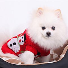 Krismas Gaya Snowman Corak Sweater untuk Anjing Haiwan (Saiz Assorted)