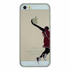 serie de baloncesto de la clavada pattern pc caso de la cubierta trasera transparente duro para el iphone 5 / 5s