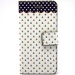 Red And Blue Small Rivet Pattern PU Leather Full Body Case with Card Slot and Stand for iPhone 5/5S