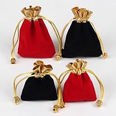 10pc 9 * 12cm smykker emballagepose gavepose (rød, sort)