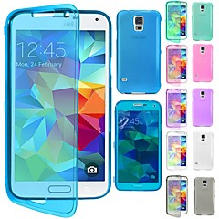 DF® Flip Clear Soft Thin TPU Silicone Full Body Case for Samsung Galaxy G800 S5 mini (Assorted Colors)