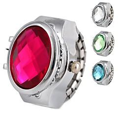 kvinnors lysande legering analoga kvarts ring klocka (blandade färger)