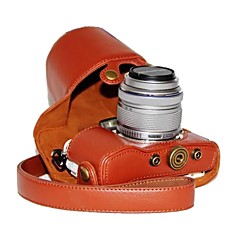 Dengpin® PU Leather Litchi Pattern Camera Case for Olympus PEN E-PL7 with 17mm/14-42mm Lens
