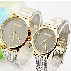 Couple's Round Dial Alloy Band Fashion Watch(Assorted Colors) Cool Watches Unique Watches