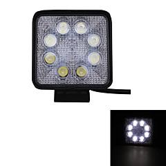 24W Type/F Spot 6000K 8-Epistar LED Square Work Light Bar DIY Used in Car/Boat/Auto Headlight