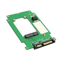 "50mm mini PCI-E mSATA SSD to 2.5"" SATA 22pin Hard Disk Converter Adapter PCBA"